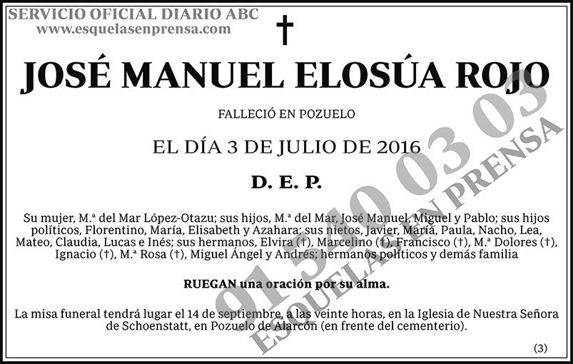 José Manuel Elosúa Rojo